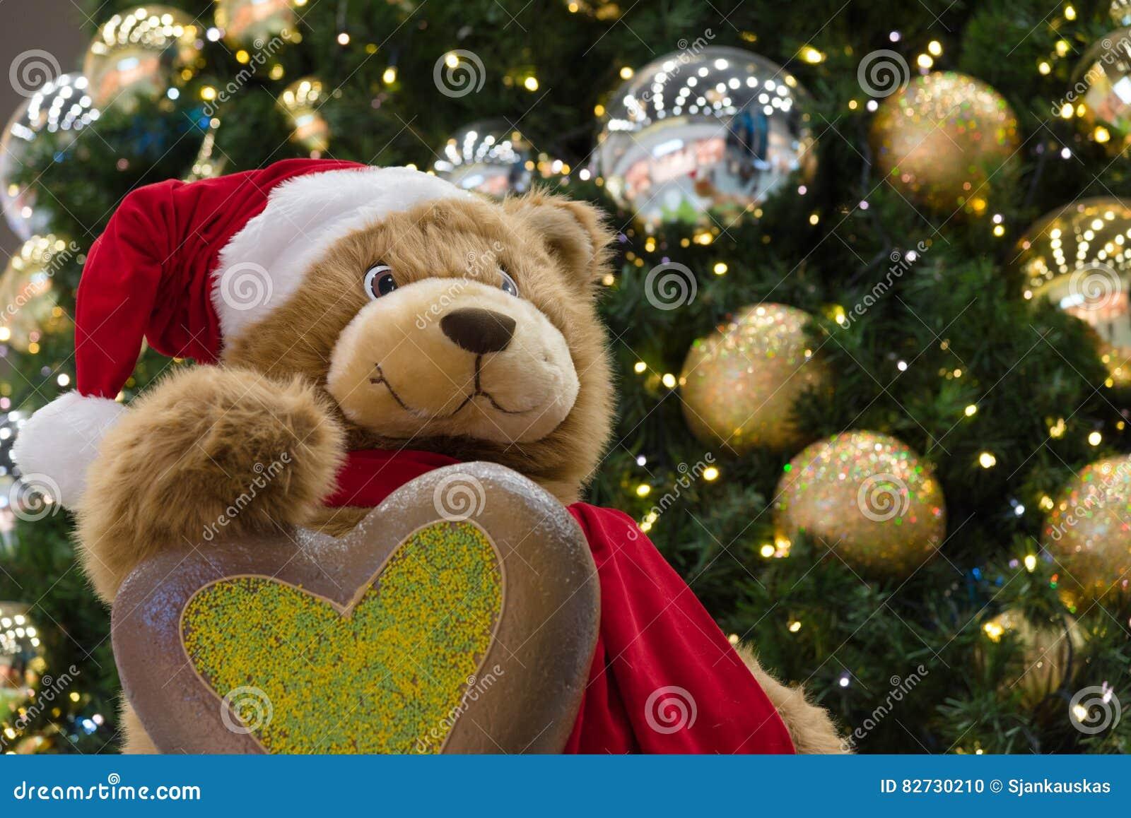 1dede54da5 Christmas Teddy Bear Seasonal Greetings Stock Photo - Image of ...