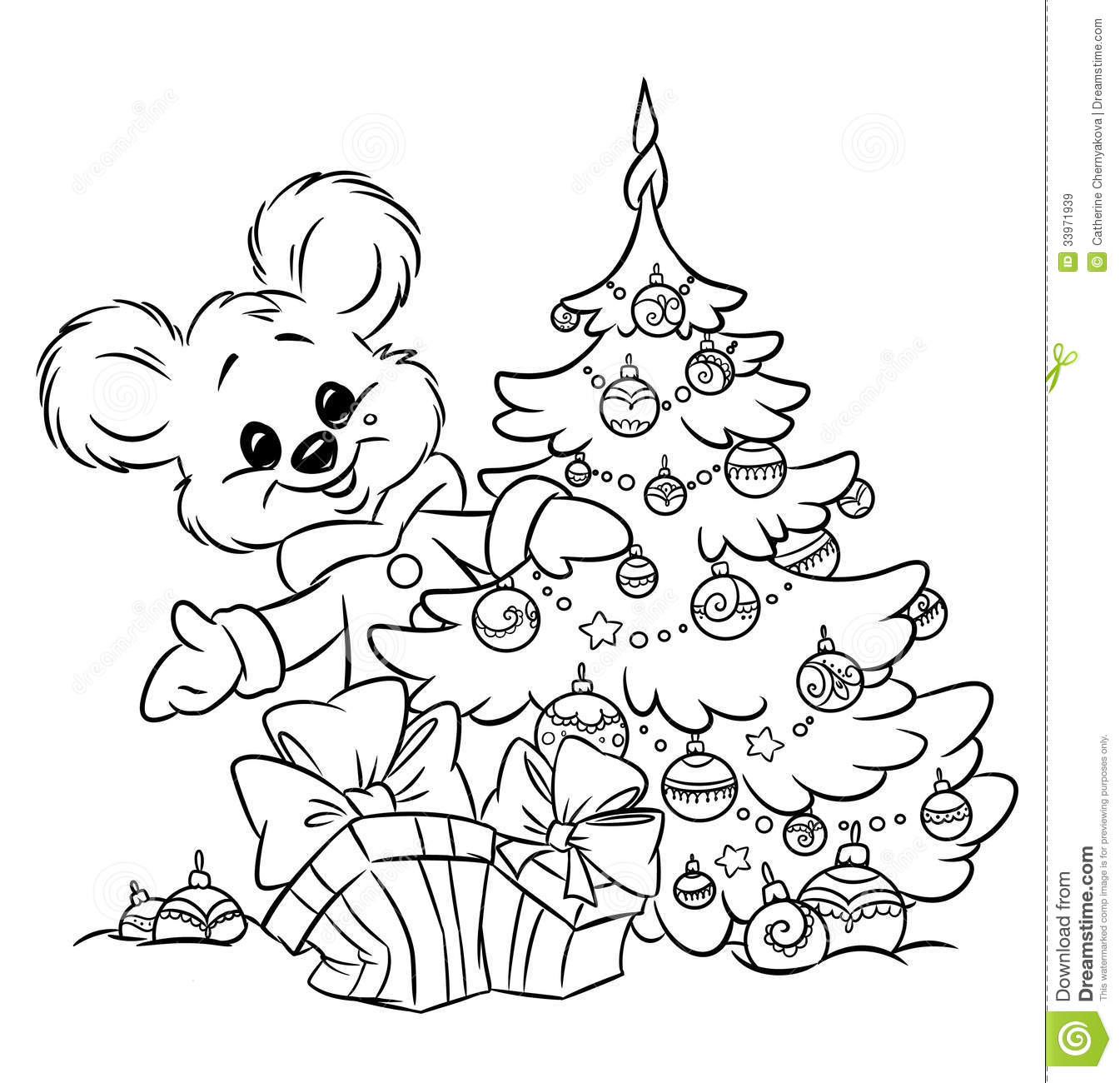 Bear Tree Coloring Along With Worksheets On Rounding And Place Value ...