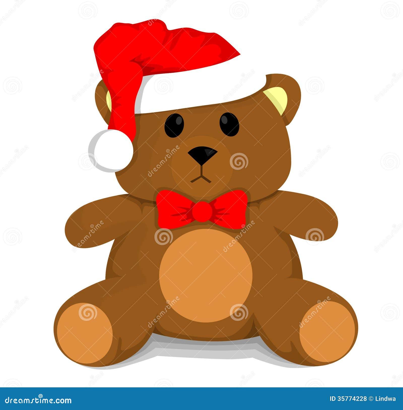 Christmas Teddy Bear Royalty Free Stock Photos - Image: 35774228
