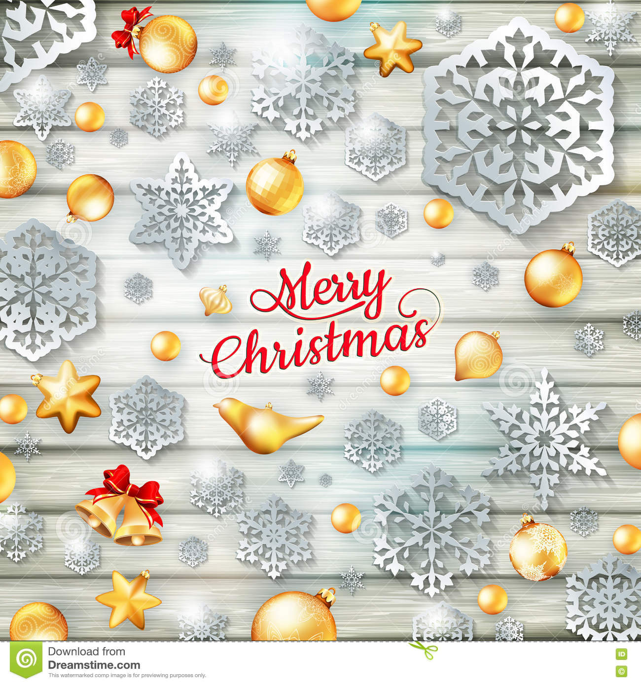 christmas template with paper cutout eps 10 stock photo image