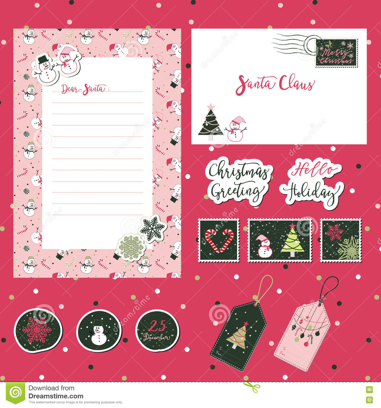 Christmas Template Set 2 Stock Vector Illustration Of Idea 79795361