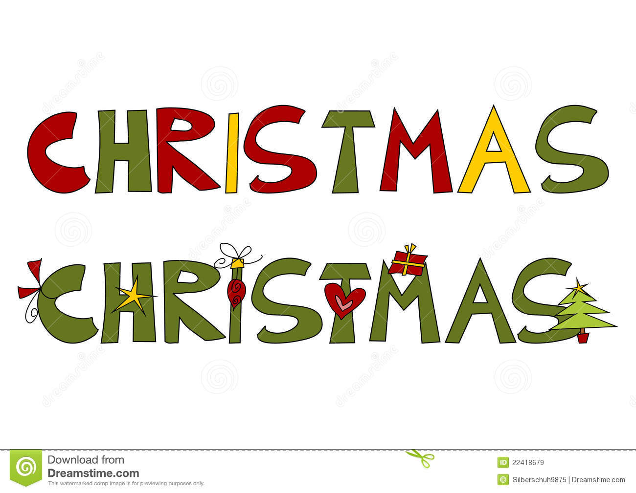 Christmas text stock vector. Illustration of cute, holiday - 22418679