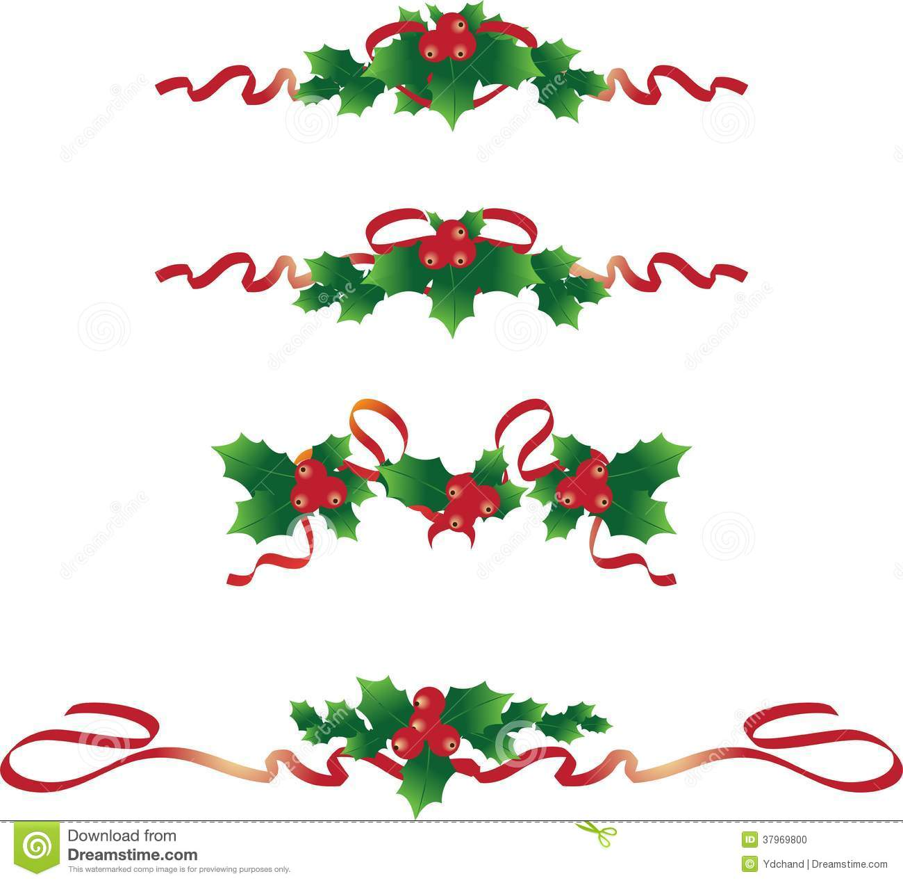 Christmas Text Dividers 2 Stock Photo - Image: 37969800