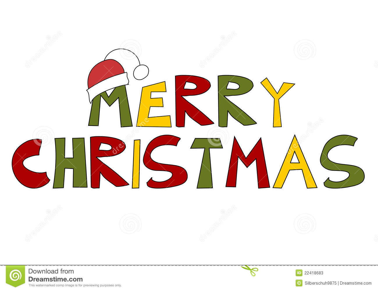 Merry Christmas Text.Christmas Text Merry Christmas Stock Vector Illustration