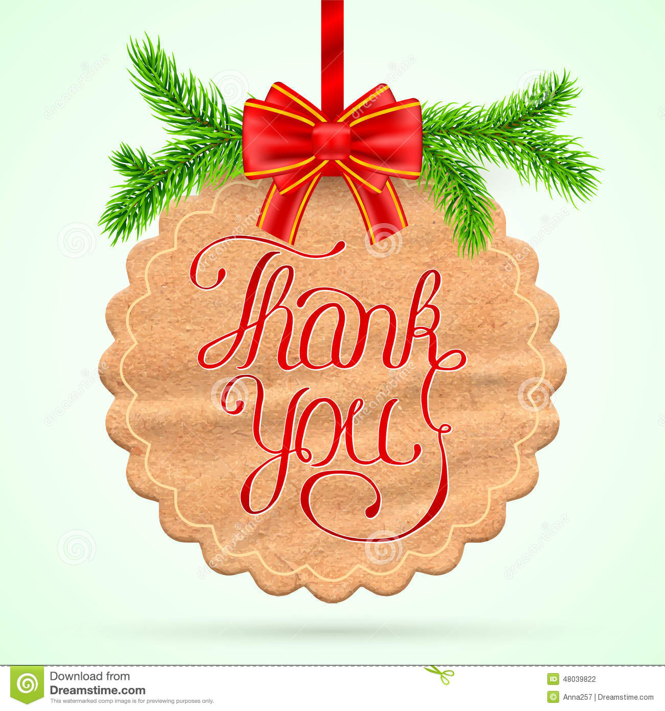 Christmas Thank you card stock vector. Illustration of line - 48039822