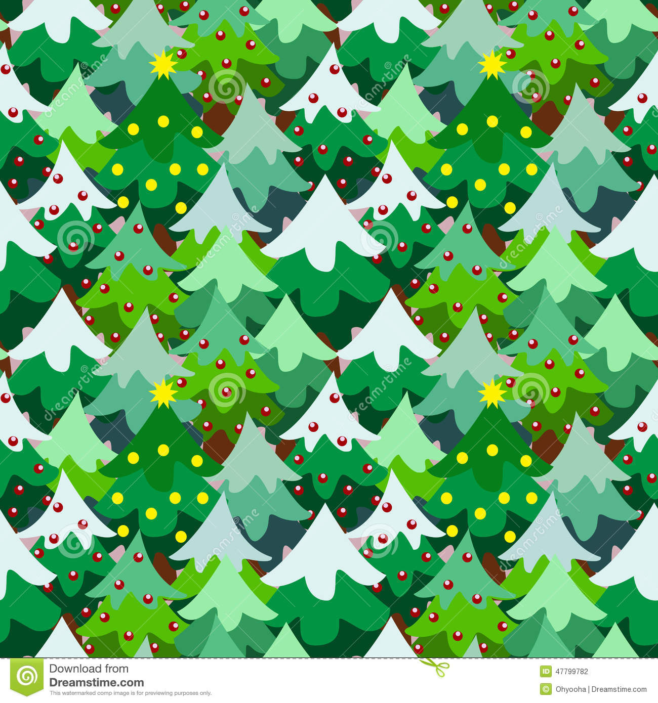 Christmas Theme Pine Tree Forest Seamless Pattern Stock Vector - Image ...