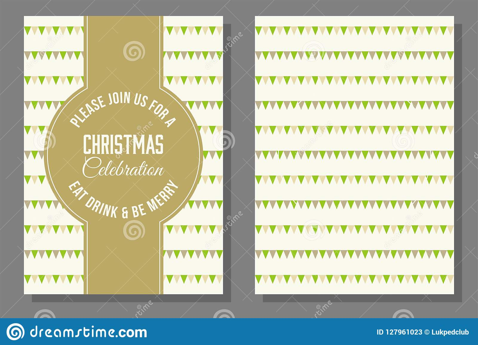 Christmas Theme Poster And Invitation Card Template Stock