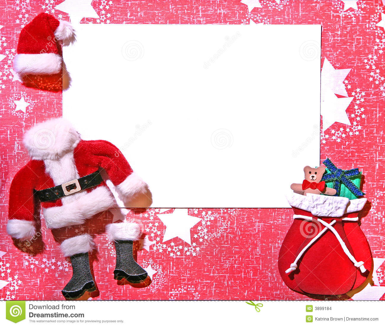 Christmas Themed 3D Paper Craft Card Stock Photo