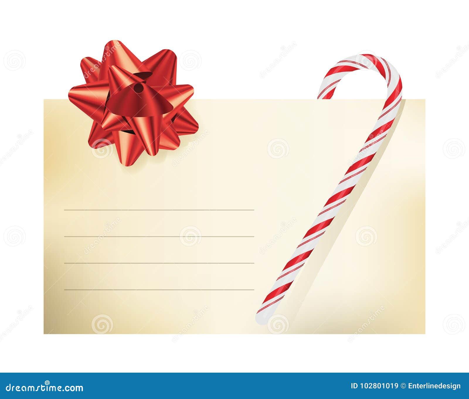 christmas themed blank note card illustration stock vector
