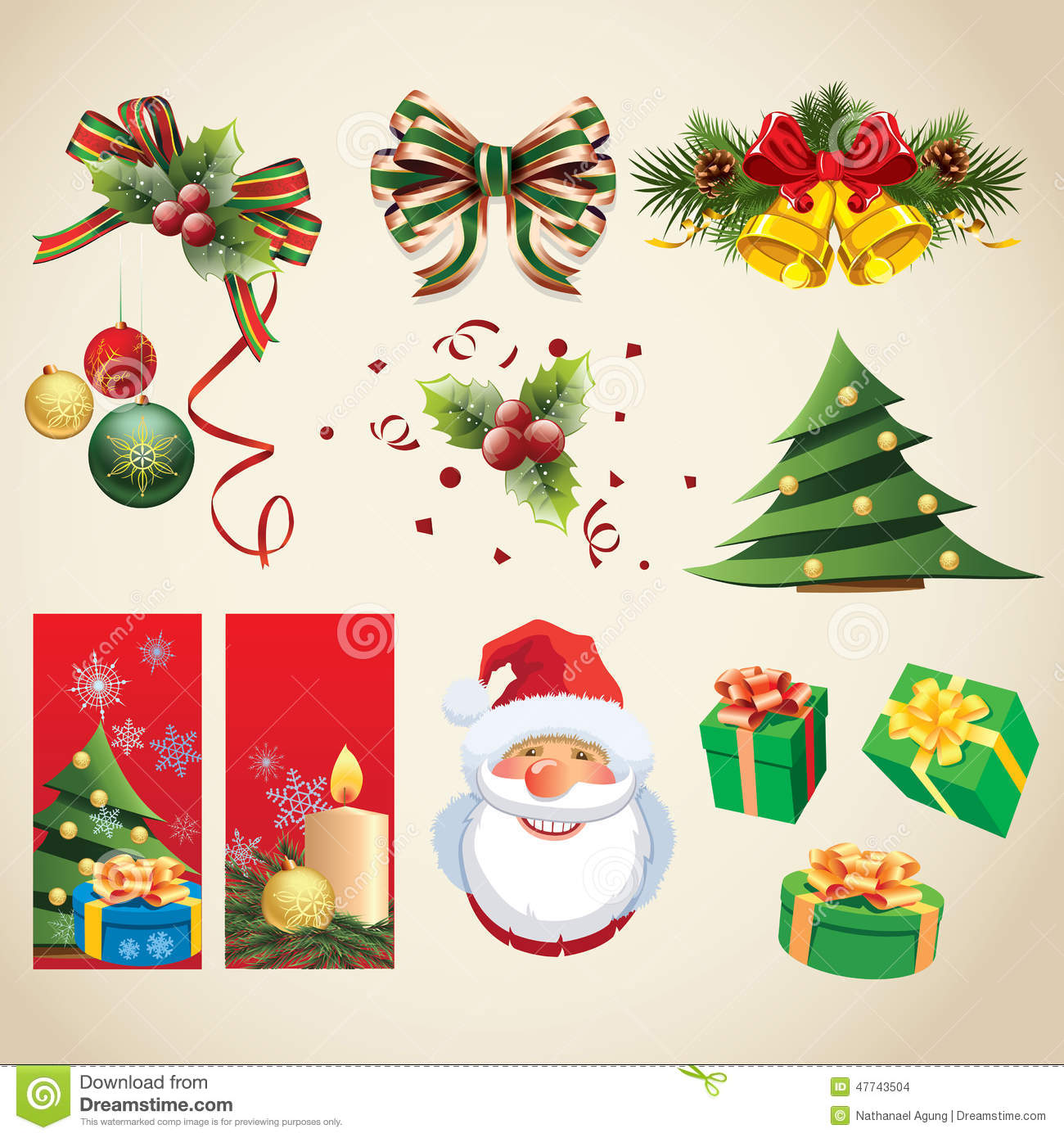 Christmas-themed Items Collection Stock Vector - Image: 47743504
