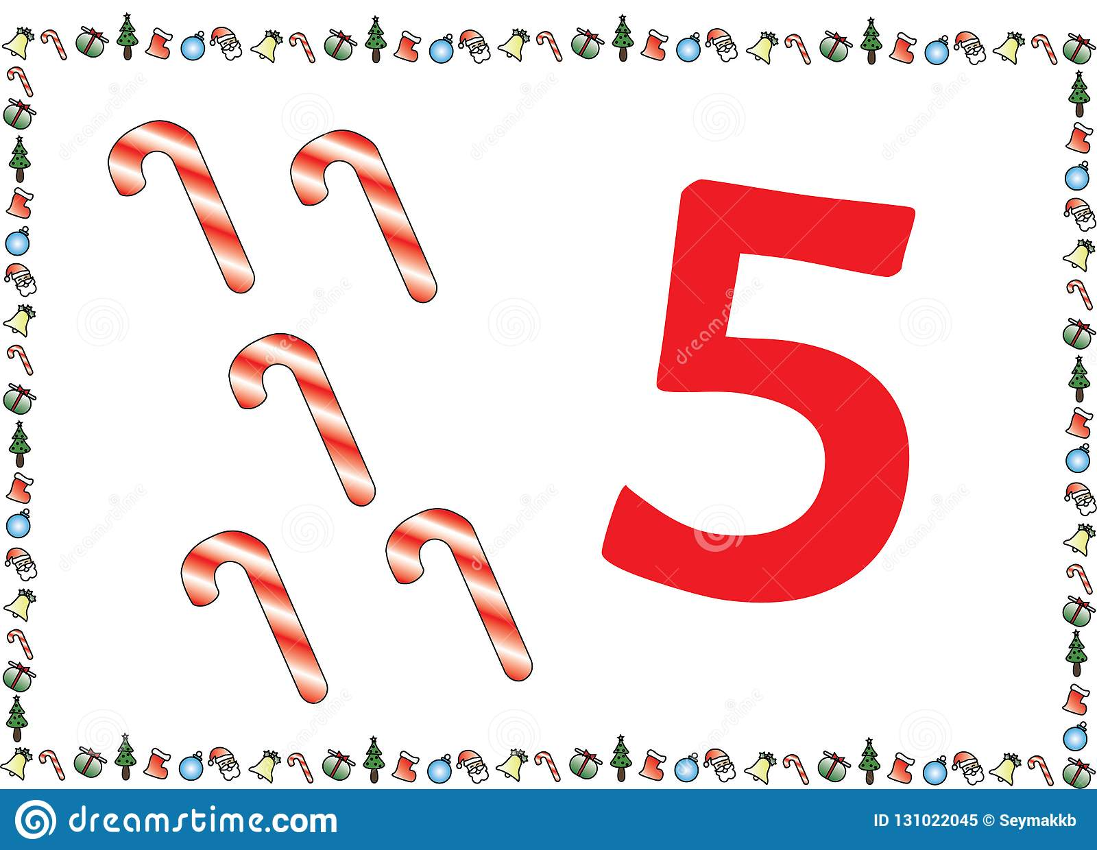 Christmas Themed Kids Number Series 5