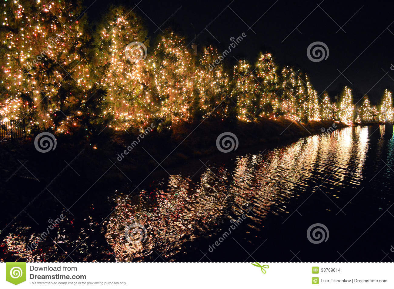 Mcadenville Christmas Lights.Christmas Time In Mcadenville Stock Photo Image Of