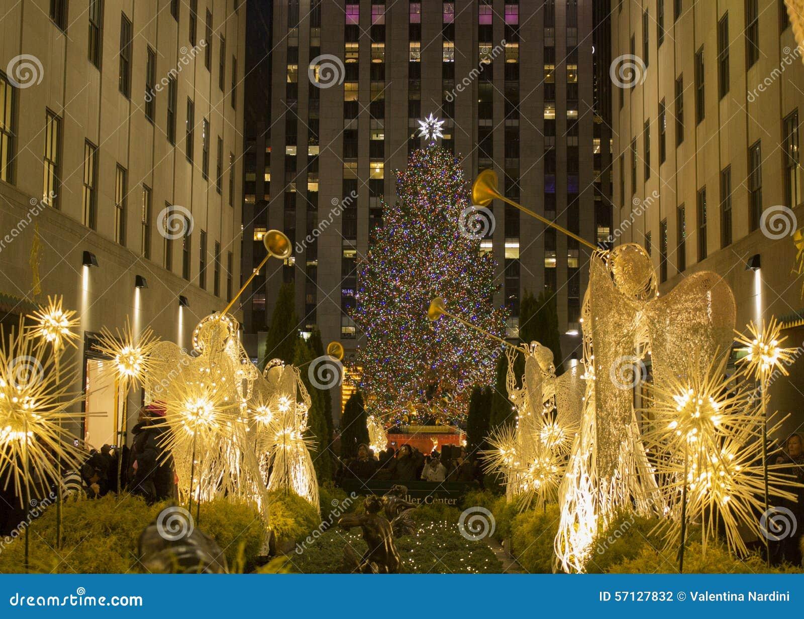 christmas new york christmas tree rockfeller center - New York Christmas Time