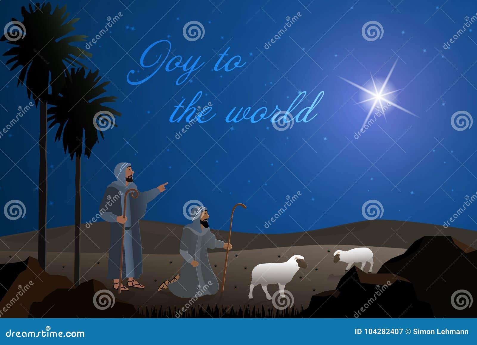 Christmas Shepherds.Christmas Time Shepherds Stock Illustration Illustration