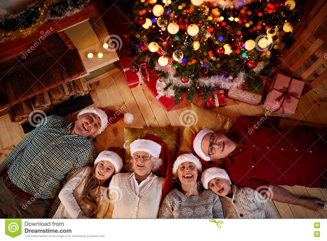 Christmas time spent with family