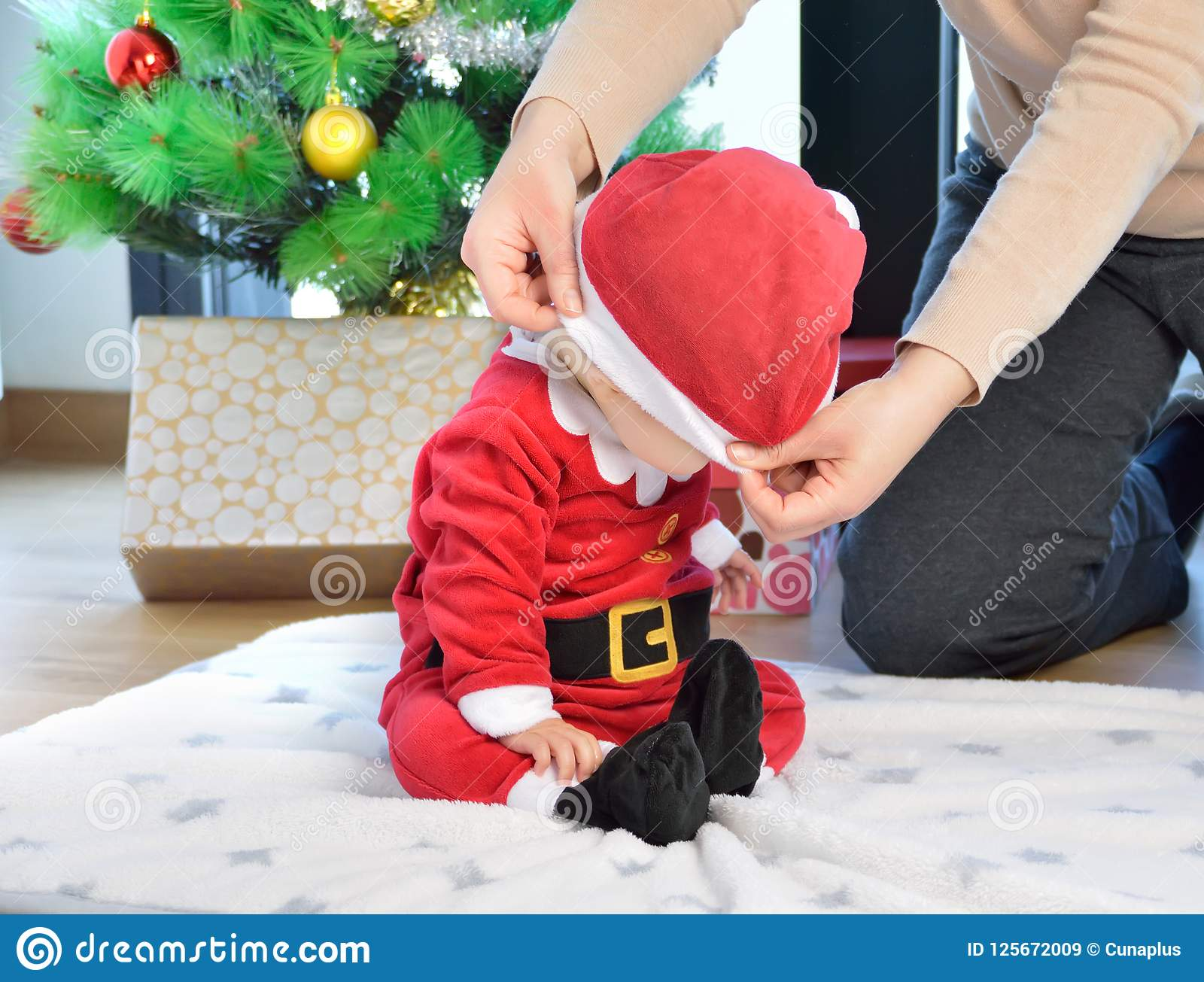 A Christmas To Remember.A Christmas To Remember Stock Image Image Of Male Indoor