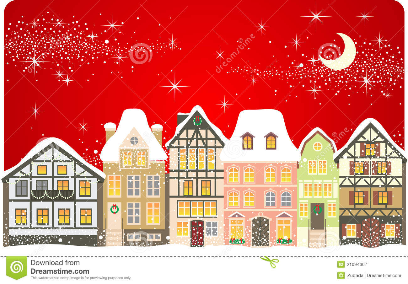 Christmas town royalty free stock photography image 21094307