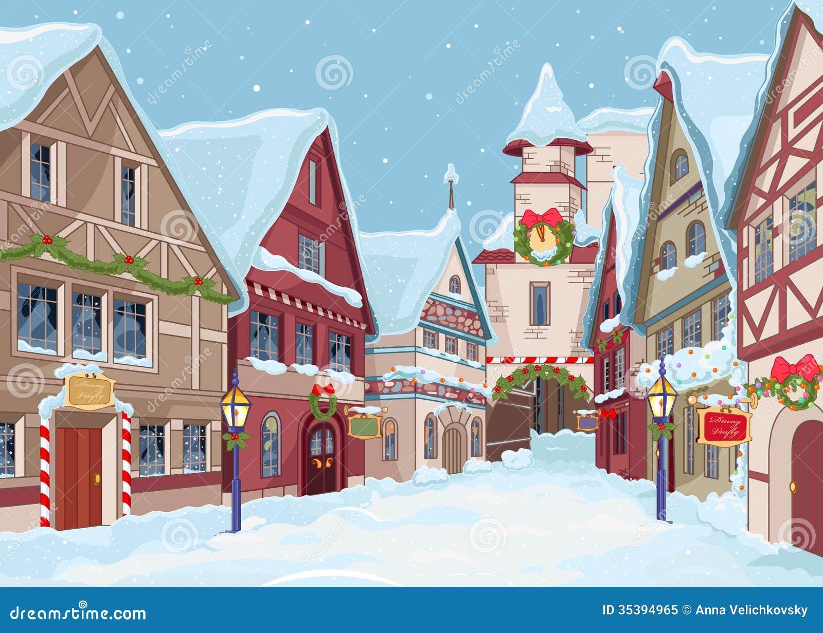 Christmas town royalty free stock photo image