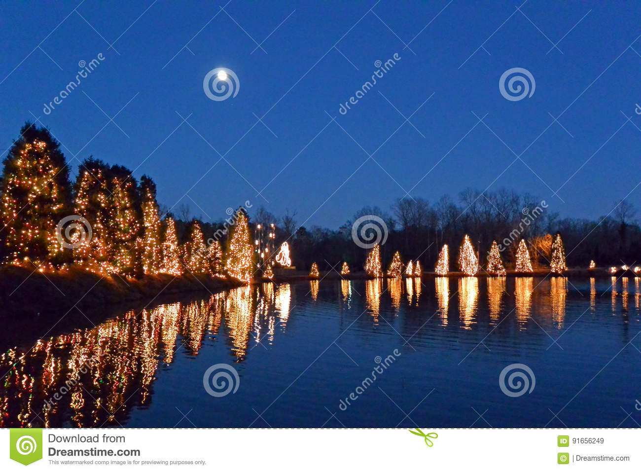 Mcadenville Christmas Lights.Christmas Town Usa Stock Image Image Of Holiday Carolina