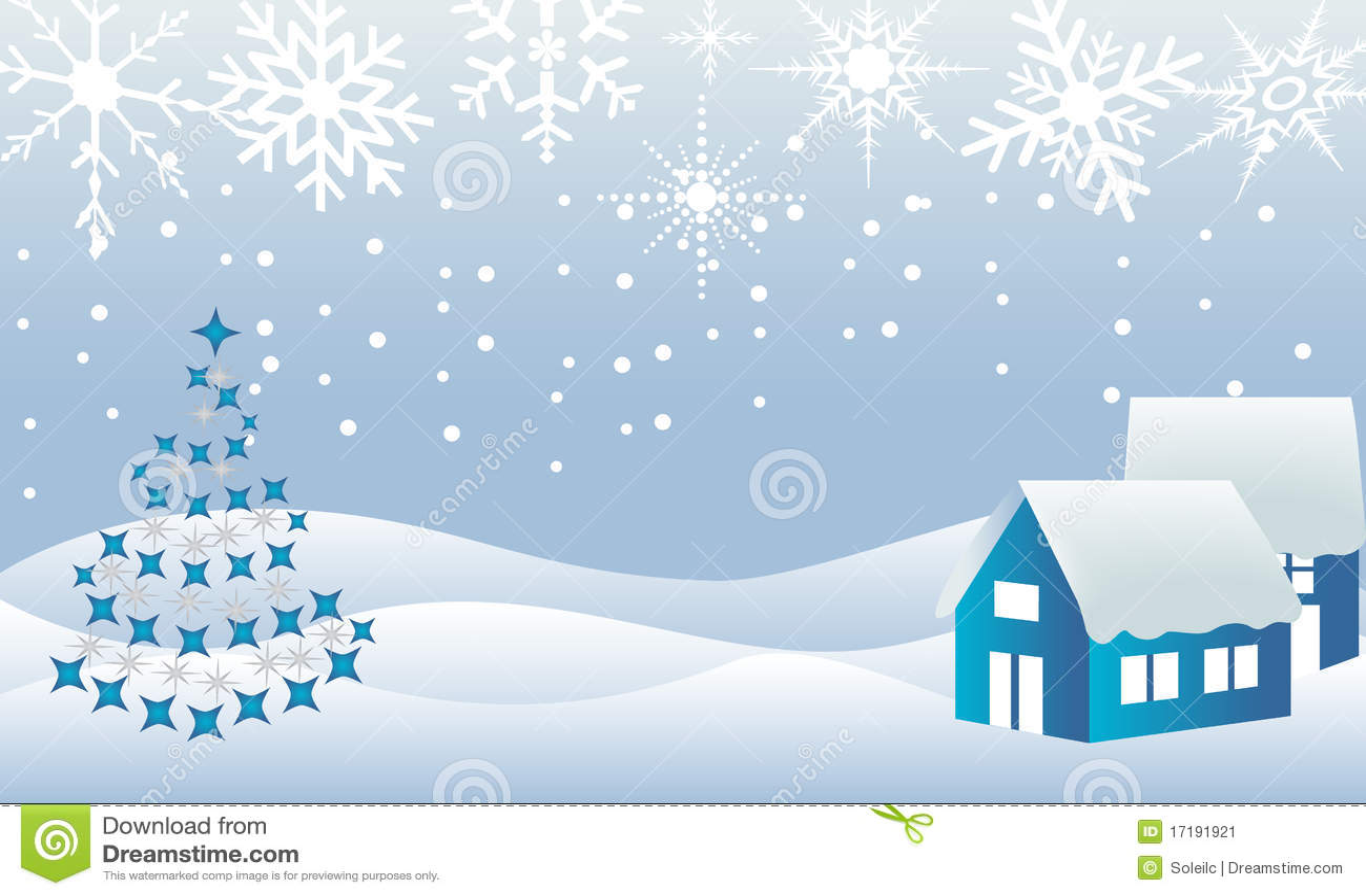 Christmas town winter wonderland stock vector