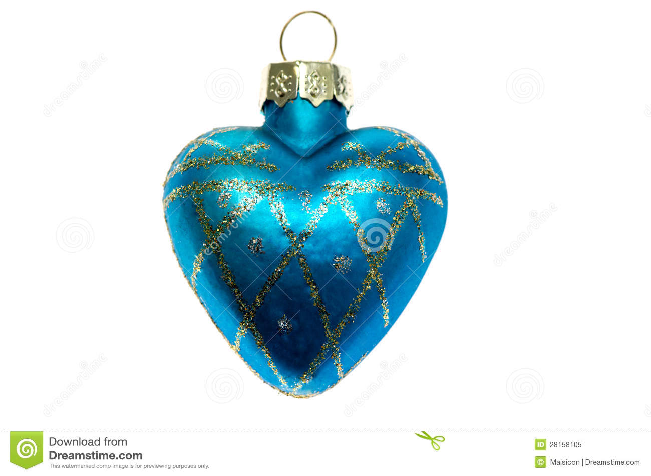 Christmas toy blue heart royalty free stock photo image