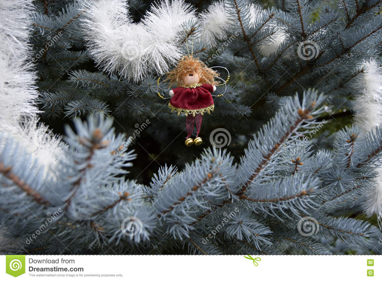 Christmas Toy In The Form Of An Angel Stock Image Image Of
