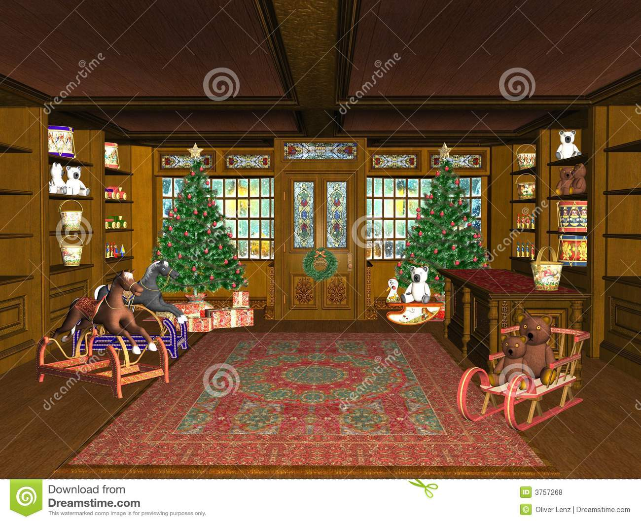 Christmas Toy Store : Christmas toy shop stock illustration of