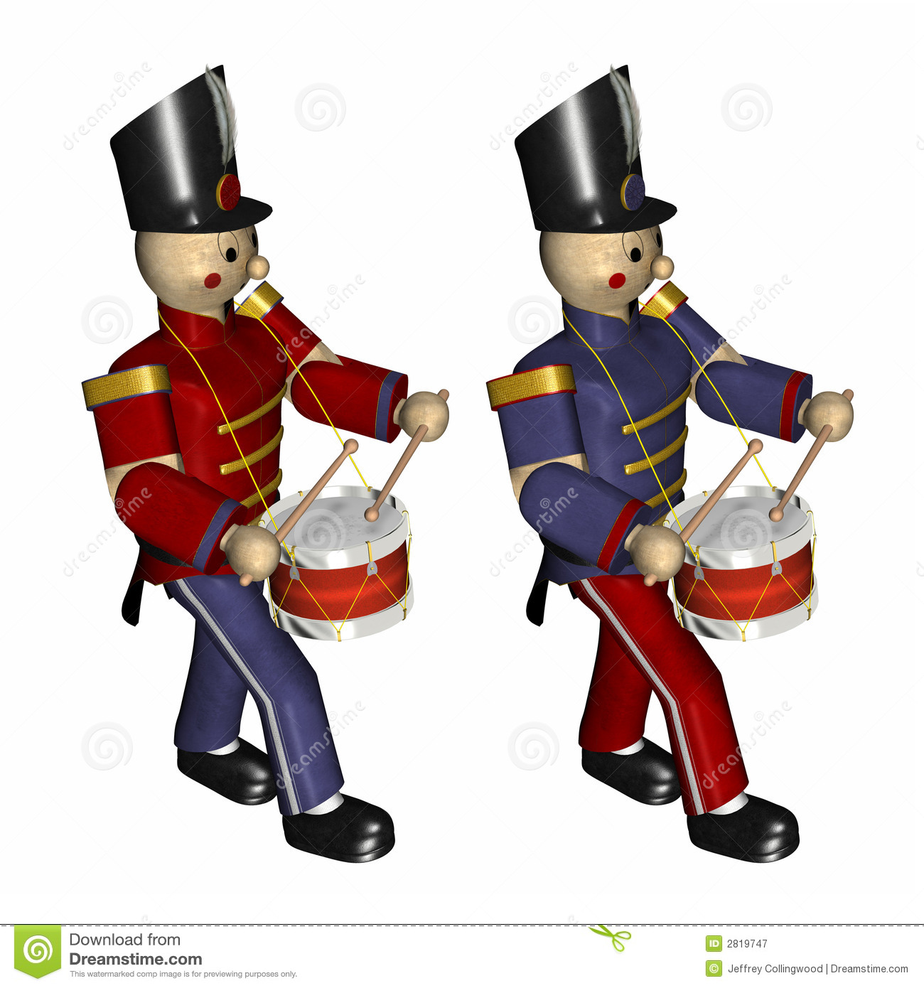 Christmas Toy Soldiers Royalty Free Stock Photography - Image: 2819747