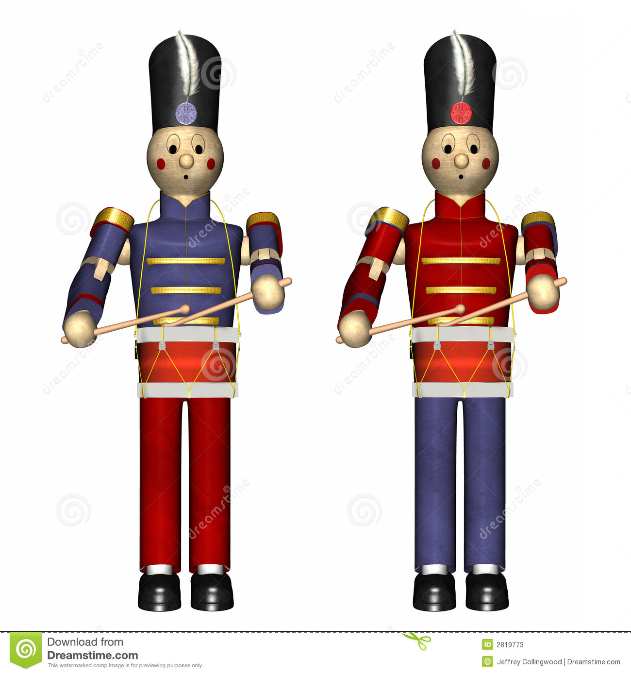 Christmas Toy Soldiers stock illustration. Illustration of