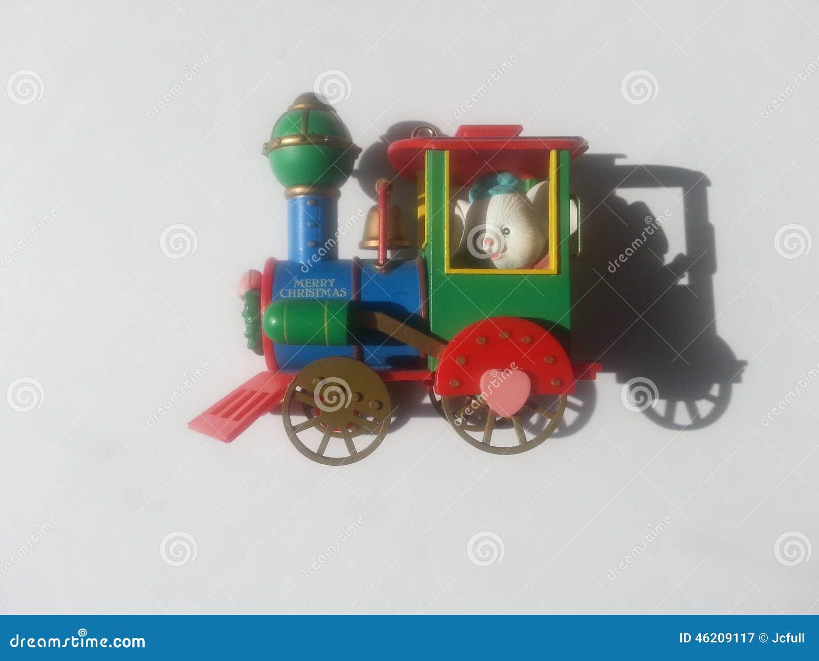 Christmas toy train stock photo image
