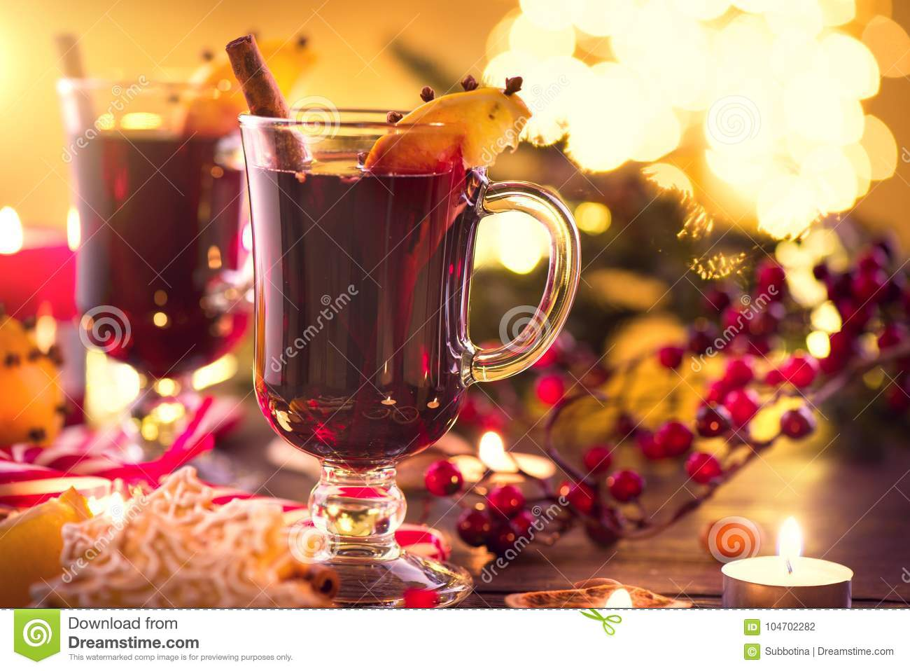 Christmas traditional mulled wine