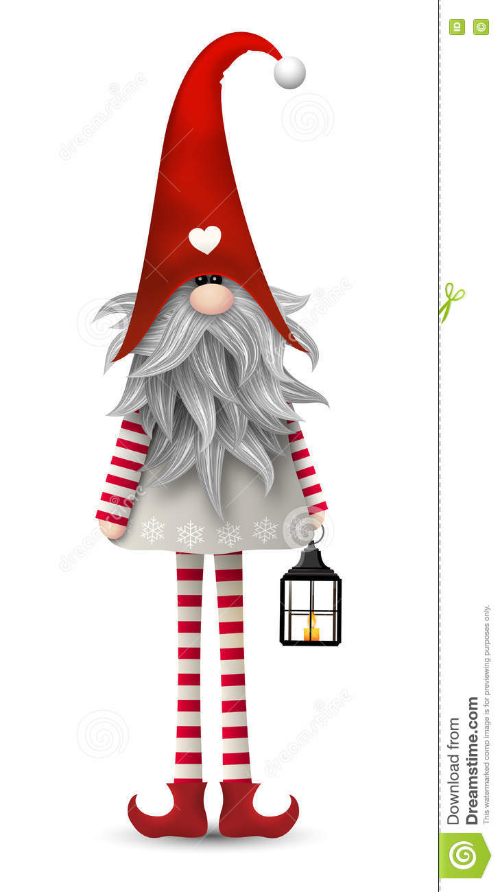 Christmas Traditional Scandinavian Gnome, Tomte, Illustration Stock ...