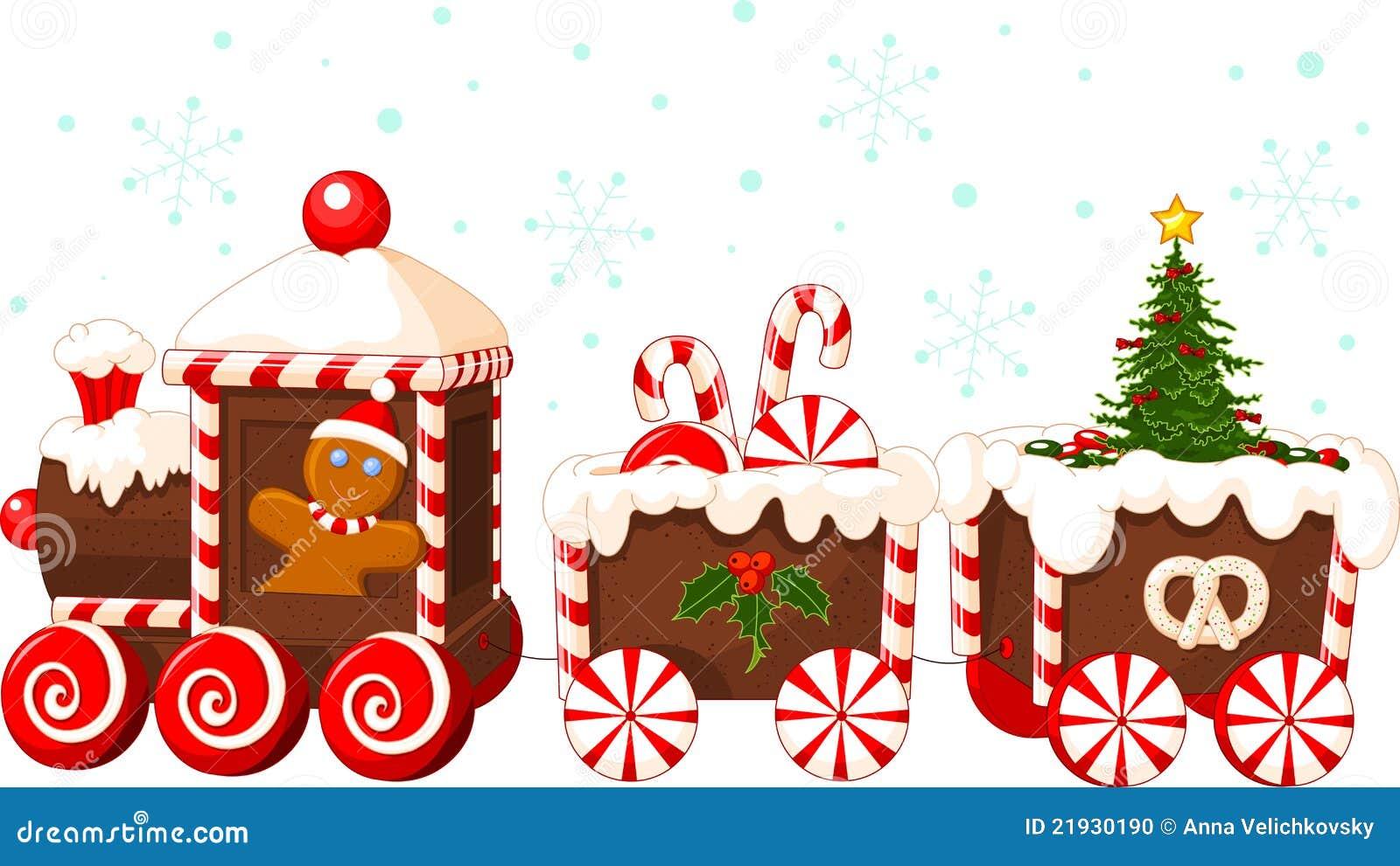 Christmas train stock vector. Illustration of steam, symbol - 21930190