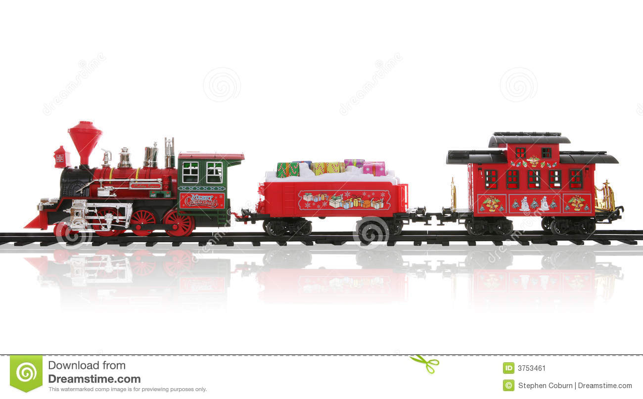 Christmas Train stock image. Image of locomotive ...