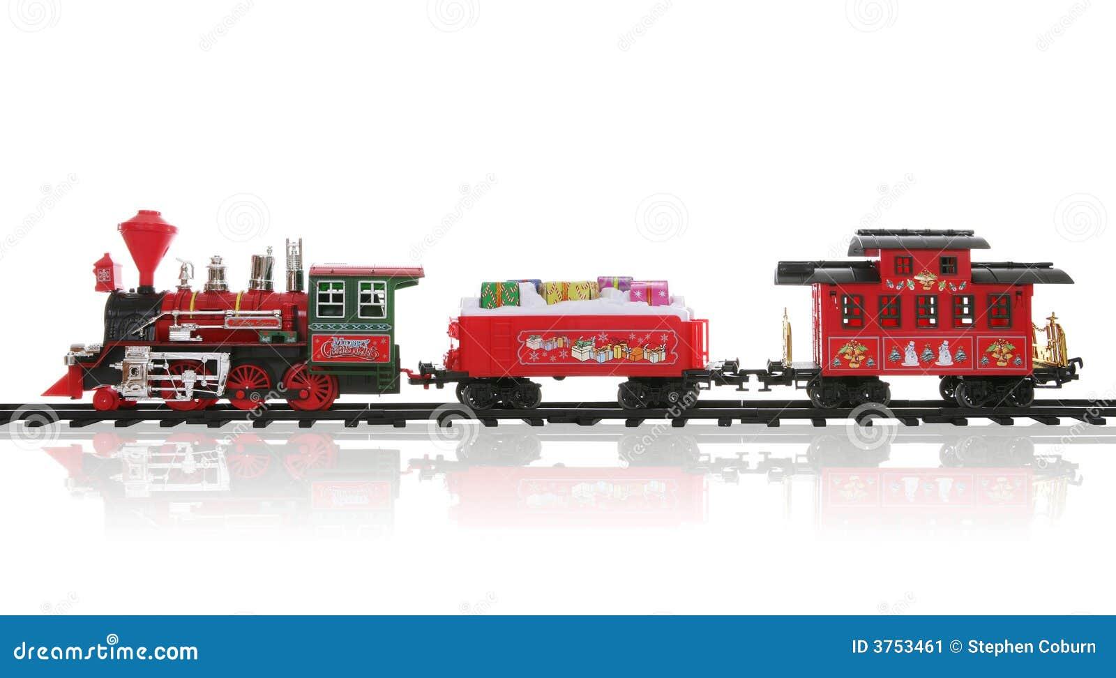 Christmas Train Stock Image - Image: 3753461