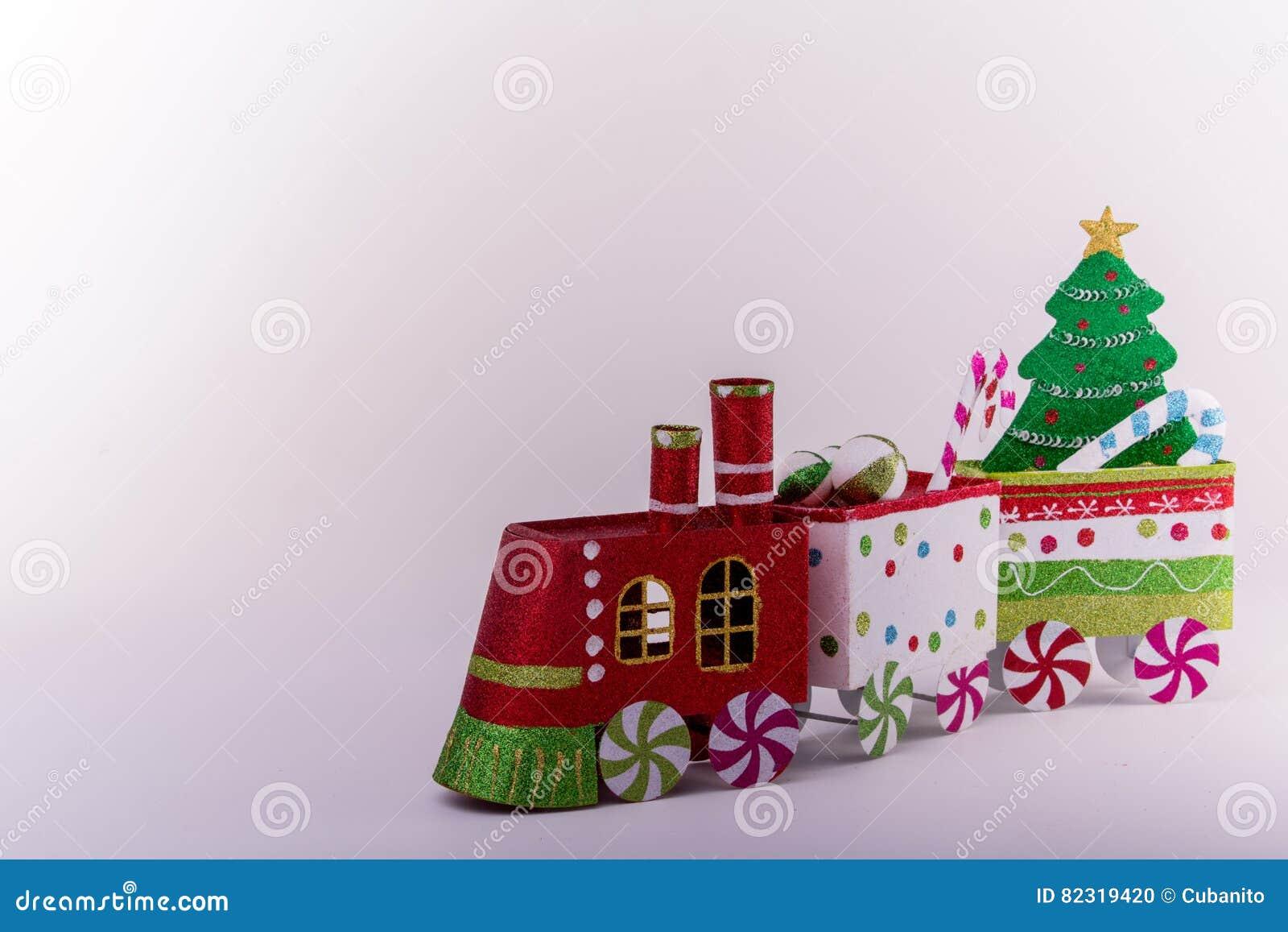 Christmas train ornaments stock photo. Image of celebration - 82319420