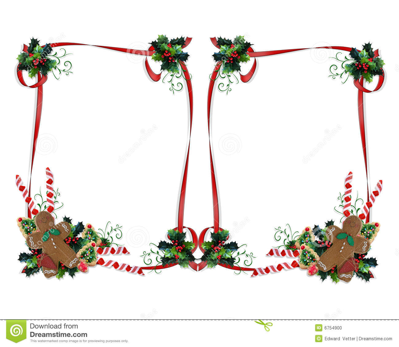 Christmas Treats Border Double Stock Photo - Image: 6754900