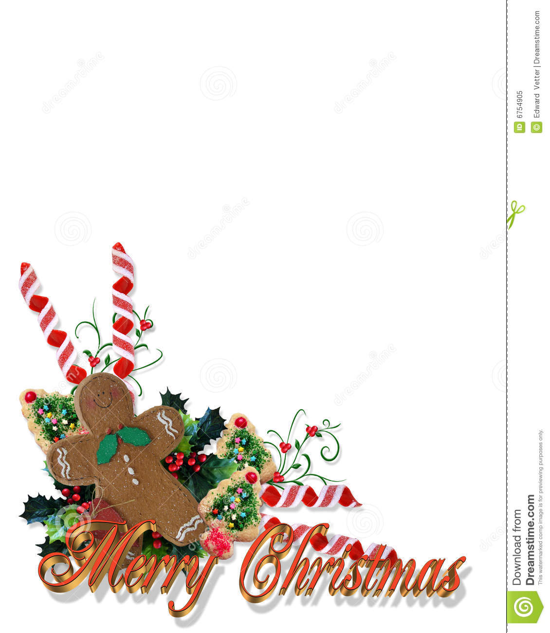 christmas treats corner with 3d text royalty free stock. Black Bedroom Furniture Sets. Home Design Ideas