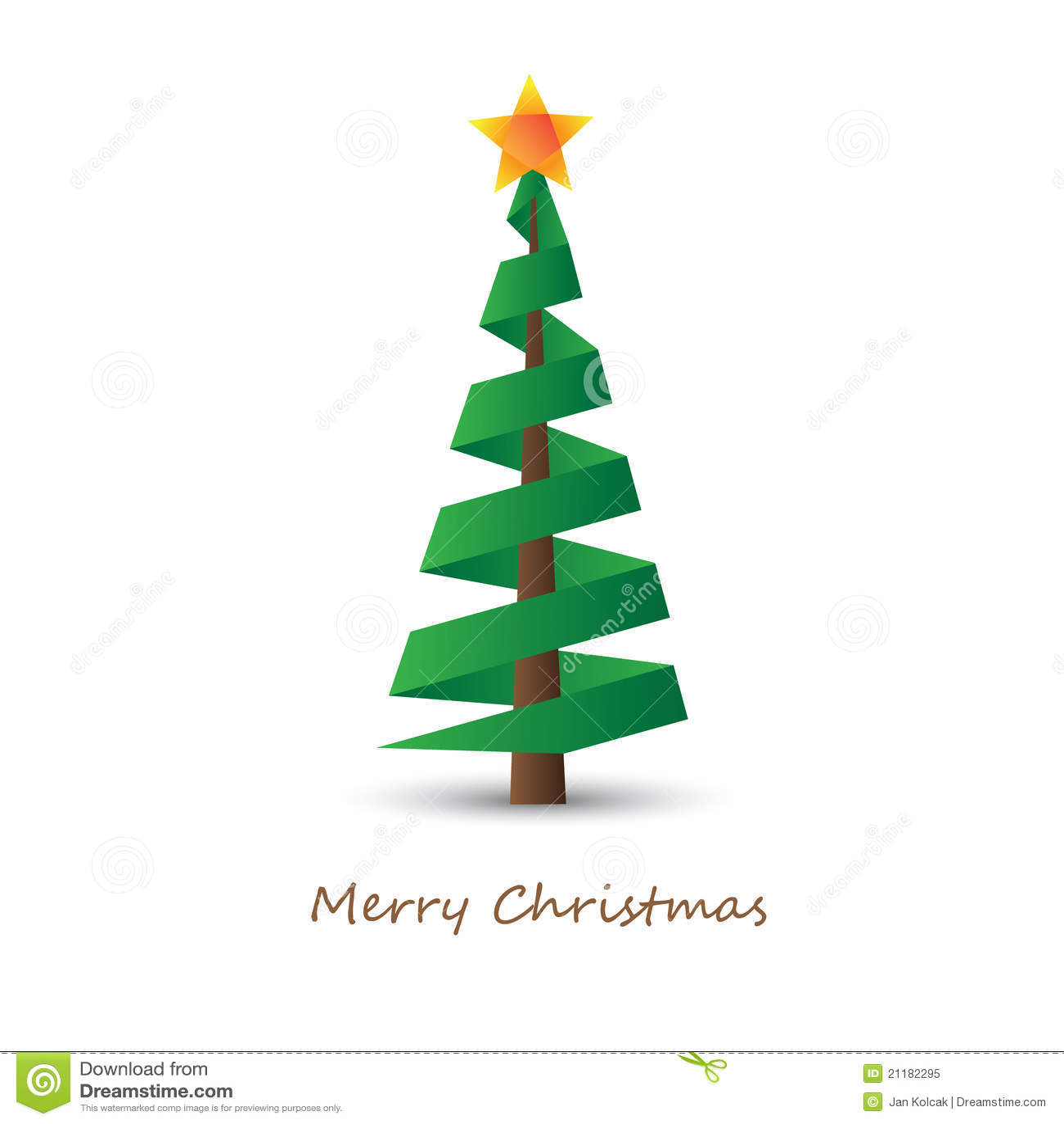 Christmas tree stock illustration image of december for Minimalist christmas tree