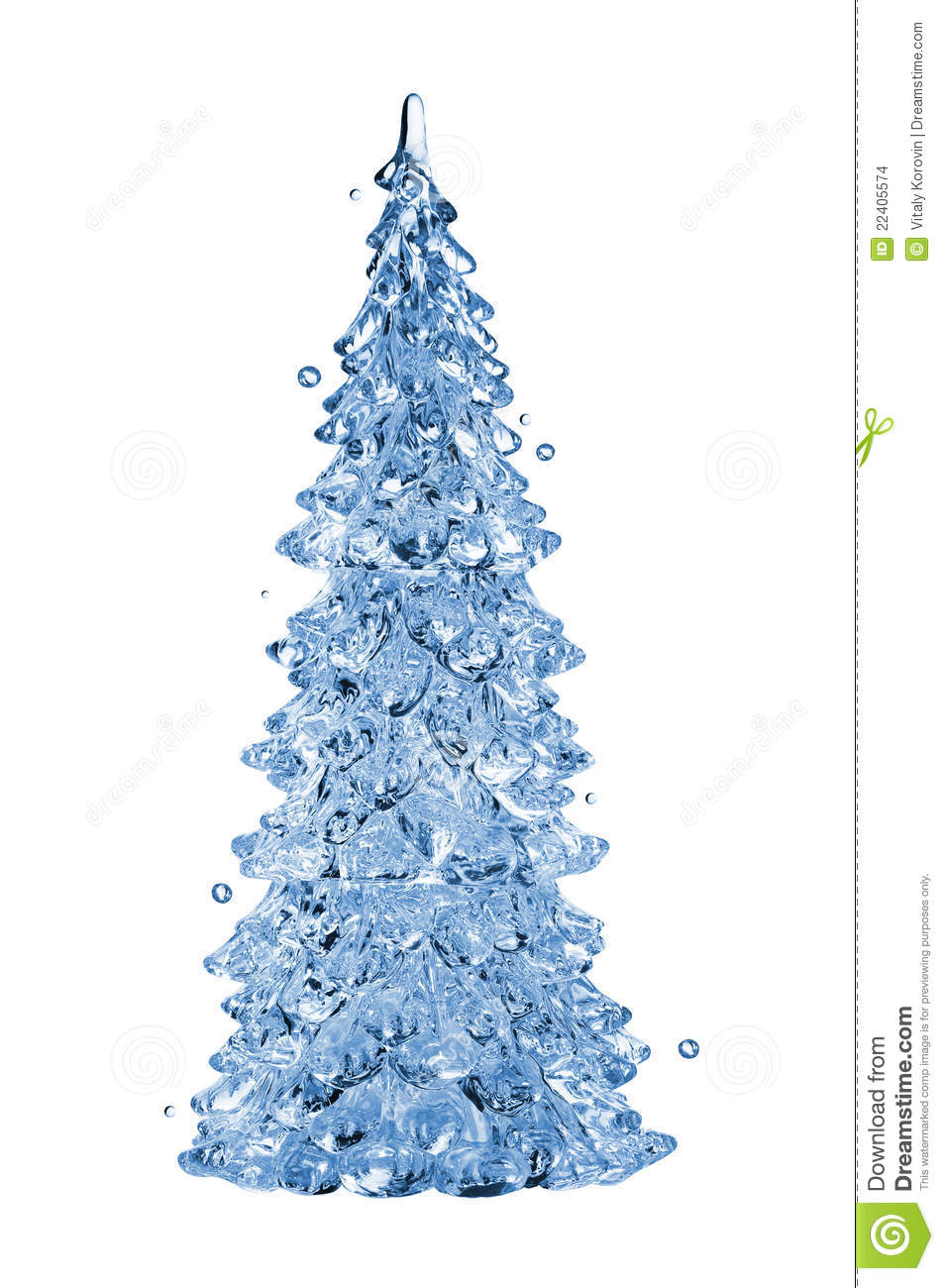 Christmas Tree Water.Christmas Tree Stock Photo Image Of Transparent Color