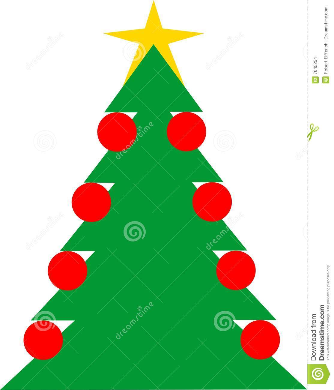 Christmas tree stock images image 7045254 for Red and yellow christmas tree