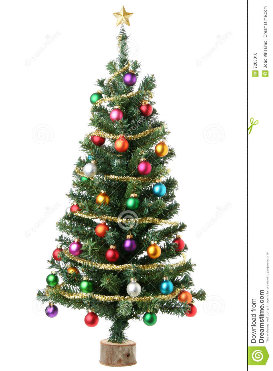 christmas tree stock photo image 7208010
