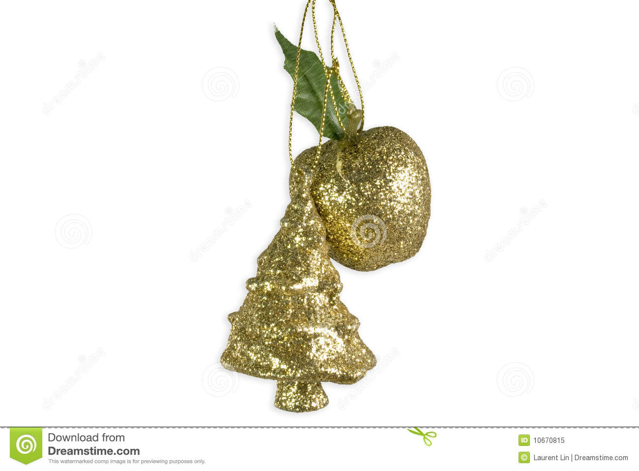 Christmas tree apple decoration royalty free stock photo for Apple tree decoration