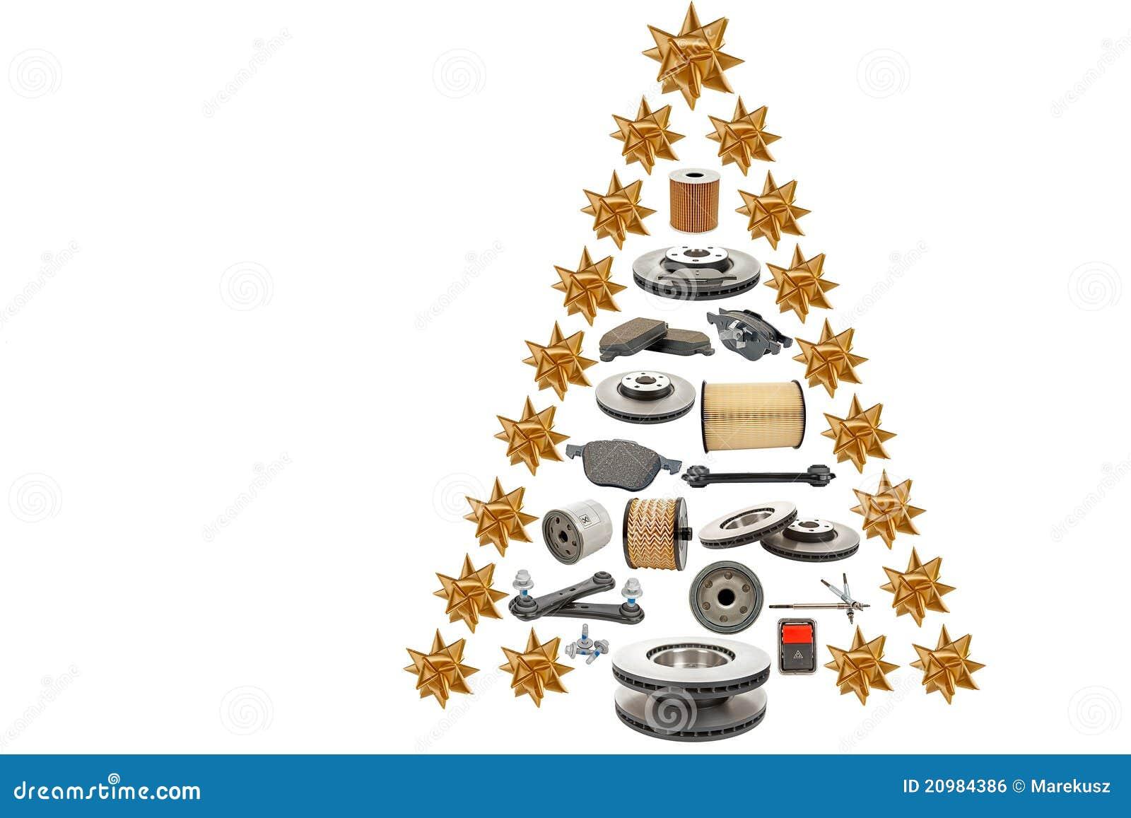 Car Parts Christmas Tree