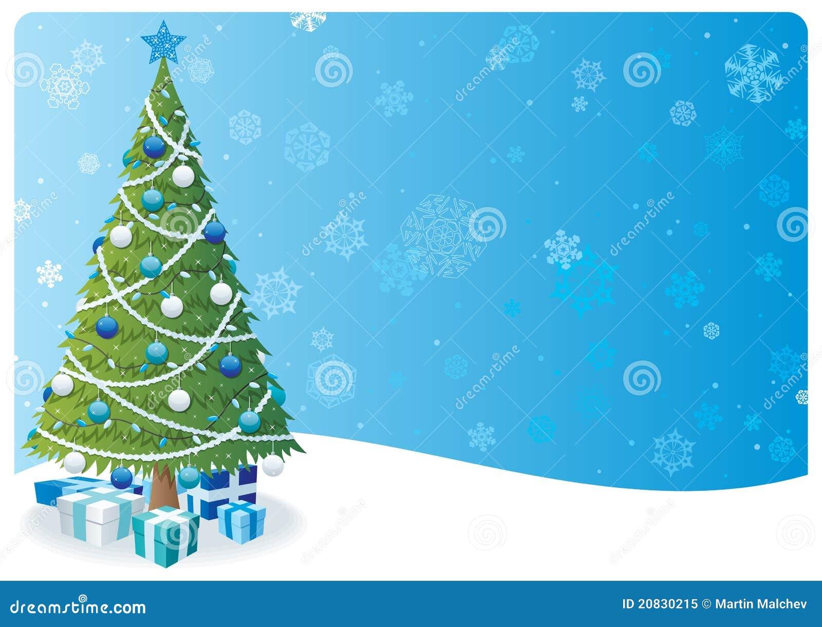 Christmas Tree Background 2 Stock Vector - Illustration of star ...