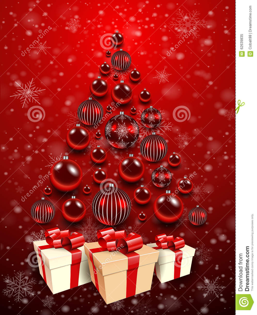 christmas tree background  stock vector