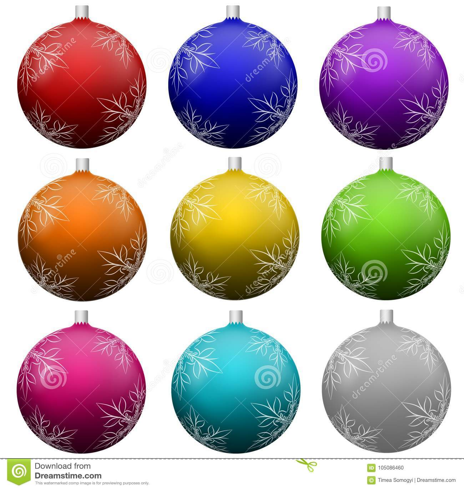 Christmas tree ball ornament set.