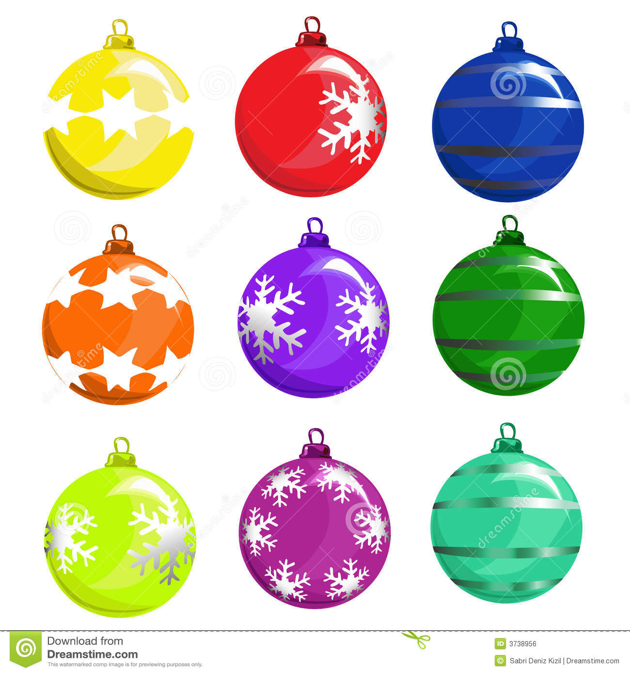 Christmas tree ball vector