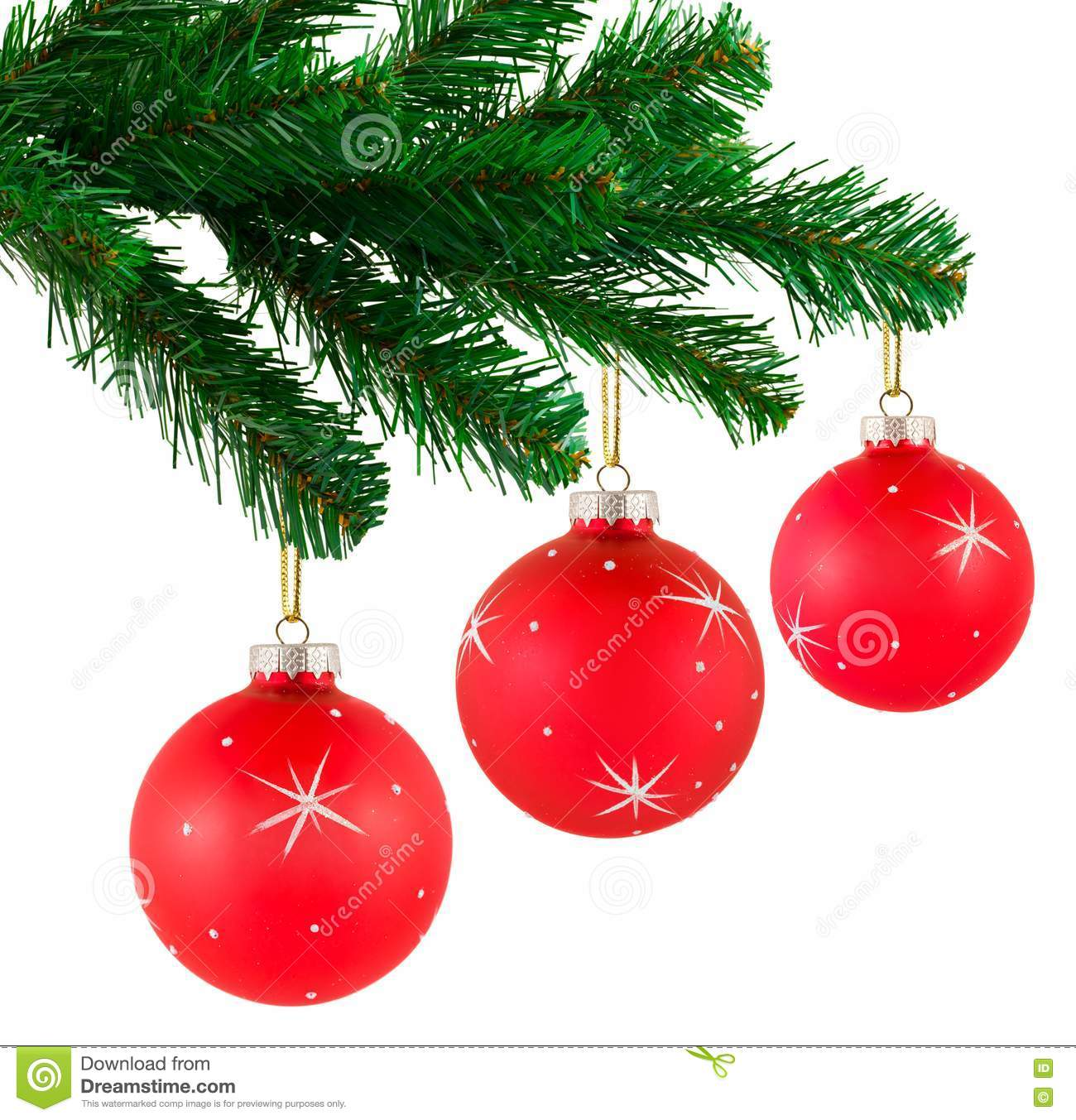 Christmas tree and balls royalty free stock images image