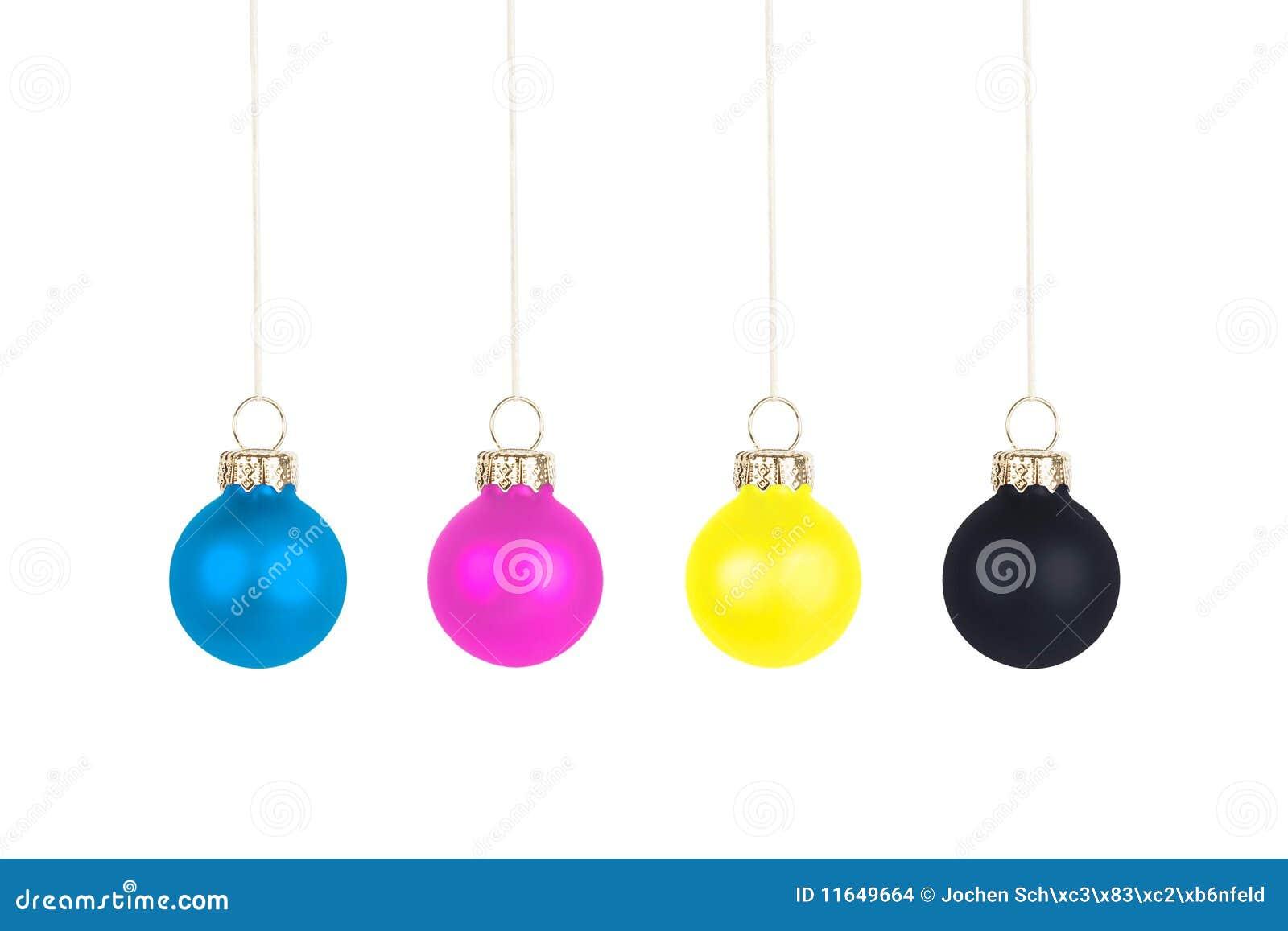 Christmas Tree Ball Placement : Christmas tree balls cmyk stock images image